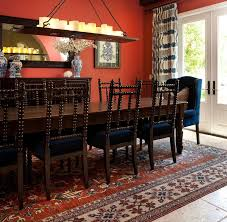 FurnitureAmazing Dining Room In Sunrom Furniture With Orange Wall Color And Hanging White Candle