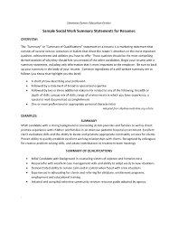 Social Work Resumes And Cover Letters Sample Resume For Workers New Awesome