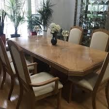 Oak Dining Room Set 11 Pieces