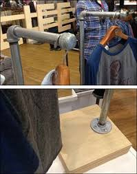 Iron Pipe As DIY Apparel Retail Display