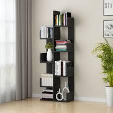 100 Tree Branch Bookshelves Tribesigns 8Shelf Bookshelf Modern Bookcase Book Rack Display Storage Organizer Shelves For CDs Records Books Home Office Deco Black