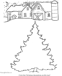 Color Your Own Christmas Tree Kids Free Printable Coloring Page