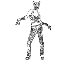 Catwoman Dance Move Coloring Pages