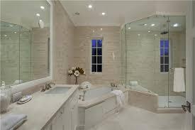 scabos travertine floor tile contemporary master bathroom with built in bookshelf travertine