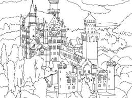 Neuschwanstein Castle Coloring Pages Hellokidscom