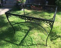 Vintage Wrought Iron Patio Furniture Woodard by Vintage Wrought Iron Patio Furniture Etsy