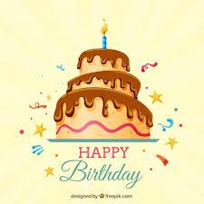 happy birthday hintergrund mit kuchen premium vektor