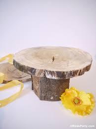 DIY Rustic Log Tree Stump Pedestal Cake Stand