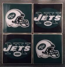 new york jets nfl ceramic tile coasters set of 4 football
