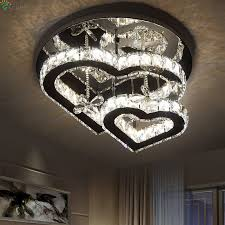 moderne glanz kristall dimmbare led decke lichter chrom spiegel stahl schlafzimmer led deckenleuchte wohnzimmer decken leuchte