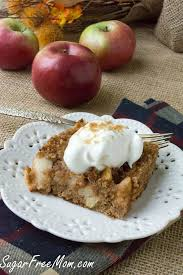 low carb grain free apple dump cake