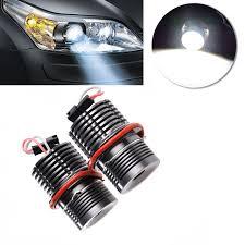 2pcs 80w led h8 halo ring light bulbs for bmw e39 e60