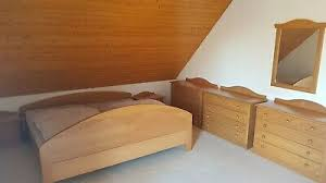 schlafzimmer bett nachtschränke 3 kommoden buche massiv
