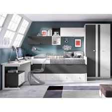 lit et bureau enfant chambre enfant gain de place compact glicerio petit espace