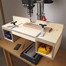 Doitall Drillpress Table Woodworking Plan Instantly Up Your Hole