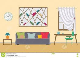 Home Interior Work Home Interior Flat Vector Design Workspace For Freelancer