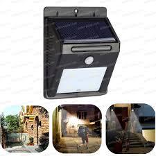 spot solaire 4 leds à détecteur de mouvement eclairage et