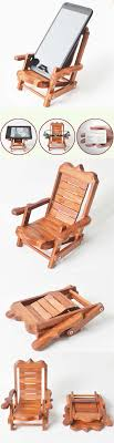Wooden Beach Deck Chair Desk Mobile Phone Display Holder ...