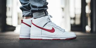 now available nike dunk high white gym red u2022 kicksonfire com
