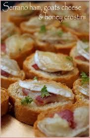 Serrano Ham Goats Cheese Honey Crostini Housewarming