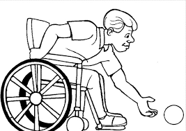 Athletes Disabilities Coloring Page