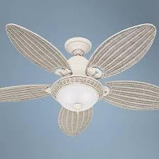 54 hunter caribbean breeze white ceiling fan 75134 ls plus