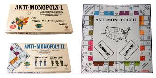 Collage Of Photographs Including The Boxes For Anti Monopoly I And II As