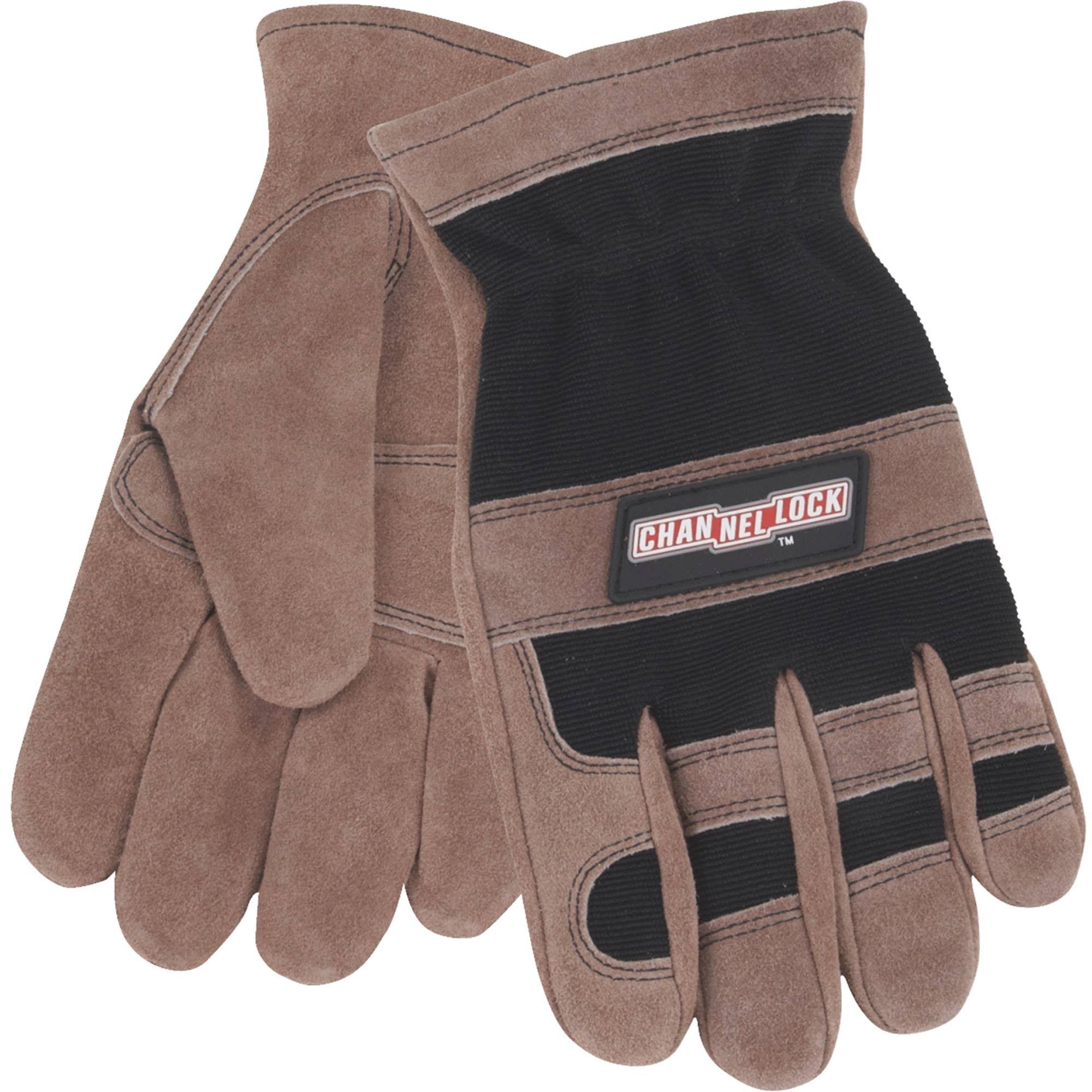 Channellock Leather Work Gloves - Brown