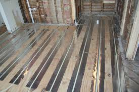 installing radiant floor heating in existing home ideas problems