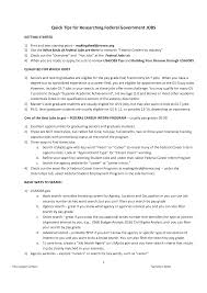Sample Resume For Government Employment Template