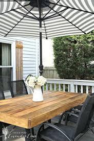 best 25 diy outdoor table ideas on pinterest outdoor wood table
