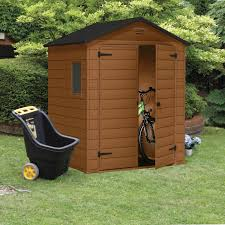 6x5 Shed Double Door by 6x5 Apex Shiplap Plastic Shed Departments Diy At B U0026q