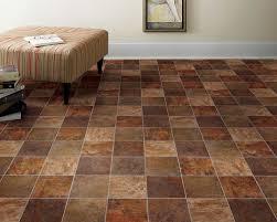 Groutable Vinyl Floor Tiles Brown
