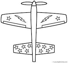 Airplane Coloring Pages For Kids Print Color Craft Airplaneprintablecoloring Printable