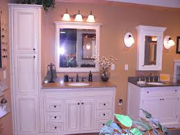 white stained bathroom cabinets and bath vanity combine brown