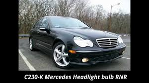how to change a headlight bulb in an 05 c230 mercedes