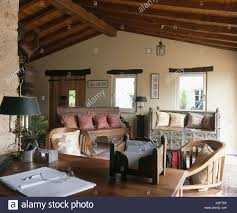 100 Rustic Ceiling Beams Carved Wooden Indian Sofas With Cushions In French Country Study