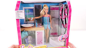 Disney Frozen Bathroom Sets by Barbie Deluxe Doll House Bathroom Accessories Barbie Beauty Play