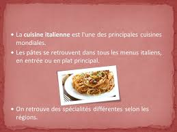 cuisine italienne gastronomique la gastronomie italienne ppt télécharger