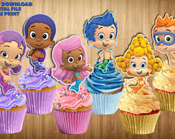 Bubble Guppies Cake Decorations by Guppies Cake Pop Etsy