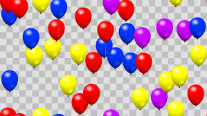 Party Birthday Balloons Seamless Loop With PNG Transparency Stock Footage Video