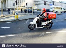 Pizza Hut Motorcycle Delivery Courier In NottinghamUK