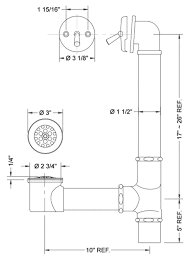 Bathtub Drain Lever Diagram by Deluxe Bathtub Drains Brass Construction Available In Designer
