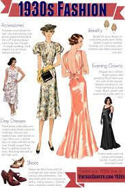 1930s Fashion Clothing Shoes And Accessories For Womens Styles Day Evening Get