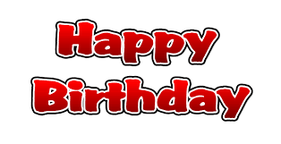 happy birthday clip art transparent