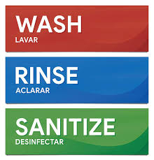100 Stickers For Trucks Wash Rinse And Sanitize Sink Labels Sticker Signs For Restaurants