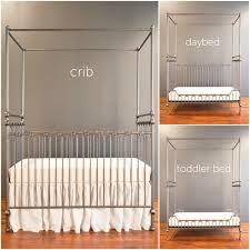 Bratt Decor Joy Crib Conversion Kit by Canopy Crib Pewter