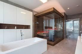 sauna design sauna als möbelstück im penthouse bad