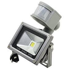 zhma motion sensor floodlights 10w led outdoor smart pir flood