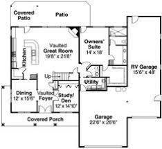 RV Garage Home Floorplan We Love It 13 Dazzling Small House Plans With Rv